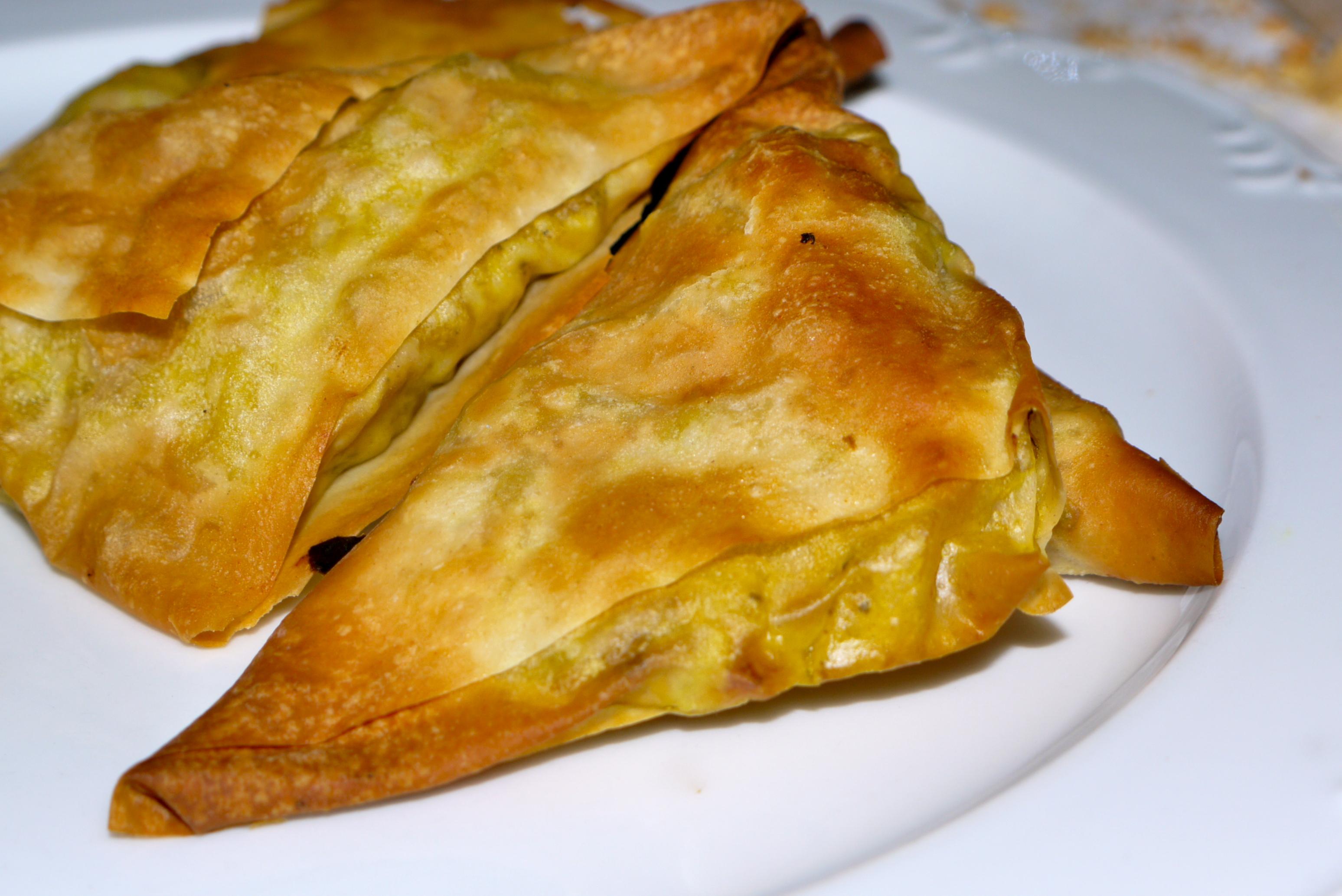 Spicy filo Samosa   foodicted